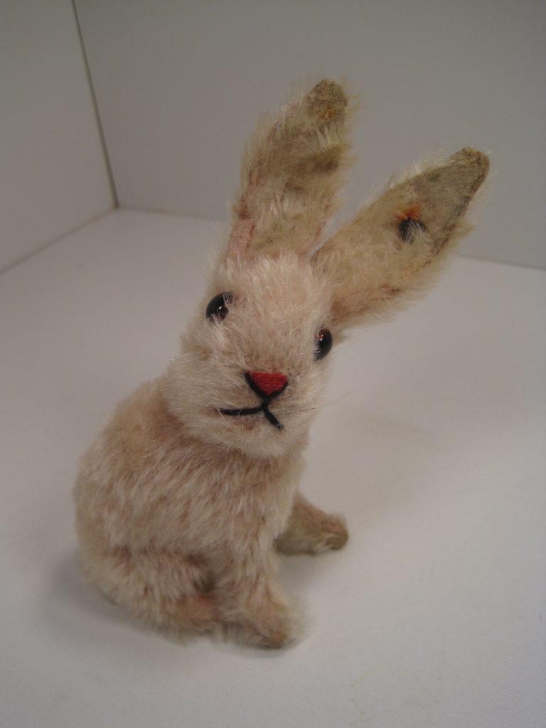steiff pink mohair bunny