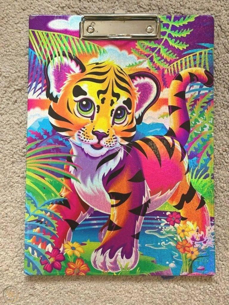 Vintage lisa frank clipboard tiger 1 801332c5a7c7eb6dbf301d9435fc44c9