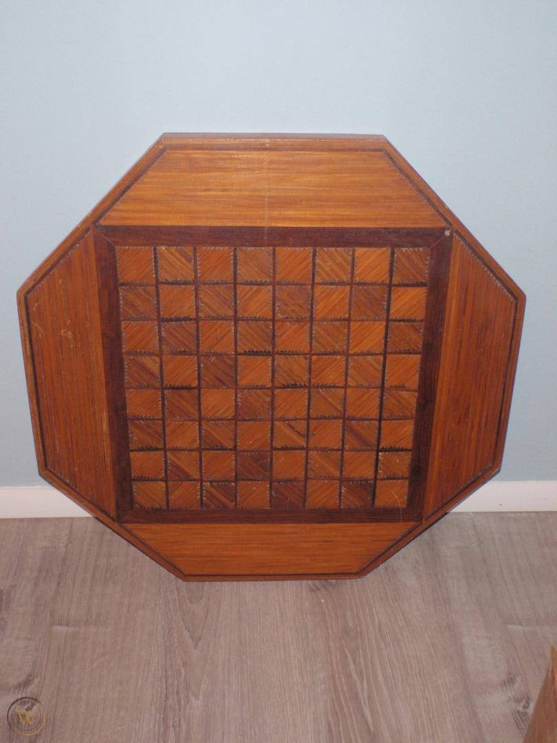 Vintage octagonal wood table top 1 34d9a7b0cf914ff88739ed0d32ecde48