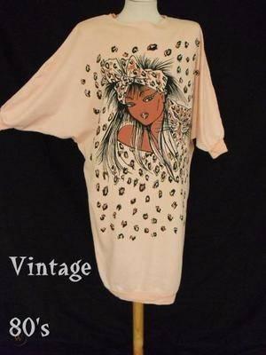 Vintage 80s oversize batwing tunic 360 ba0caa0f0eca85885b9f653591a7b117