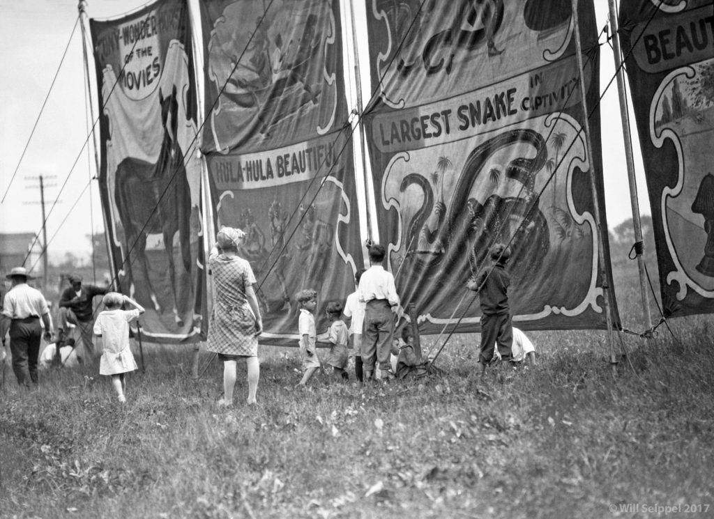 Ads for circus sideshow 1