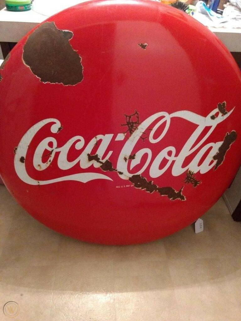 36 vintage coca cola sign 1950s 1 7789f0d7d553345921e98f304d54e83d