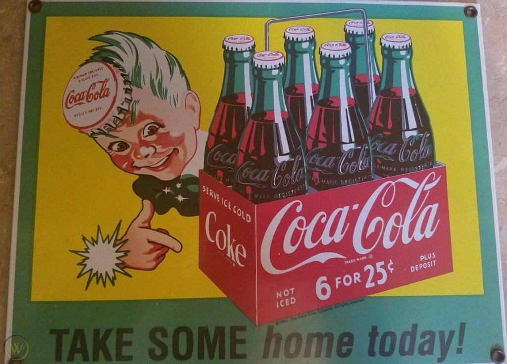 Vintage coca cola coke enamel 1 03b0c640fdc32bfd2145c88dd7647208 1