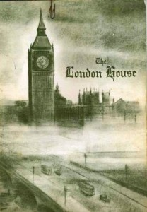 Big Ben collectibles don't always come from London or England, even. The London House was a restaurant in Cleveland, Ohio, and its 1965 menu shows Big Ben and the Houses of Parliament, although in a mirror image of the way they actually appear.