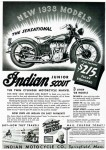 A 1938 advertisement for an Indian Junior Scout.