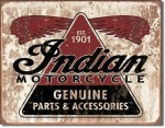 Indian Motorcycle Parts 1901 tin sign (replica).
