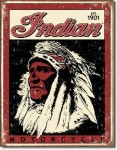 Another version of an Indian Motorcycles tin sign (replica).