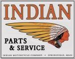 A third Indian Parts & Service Tin Sign (replica).