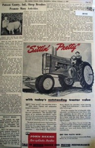 John Deere 1949 newspaper ad