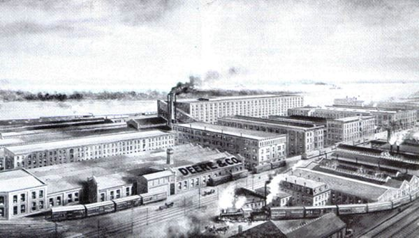 The John Deere Factory in Moline had grown from that first building into a huge industrial complex by the 1880s.
