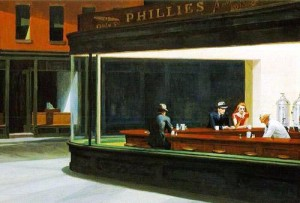"""Night Hawks"" by Edward Hopper"