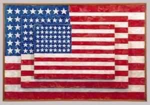 """Three Flags"" by Jasper Johns"