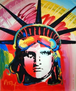 Peter Max's Liberty Overpaint