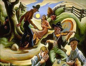 """The Ballad of the Jealous Lover of Lone Green Valley"" by Thomas Hart Benton"