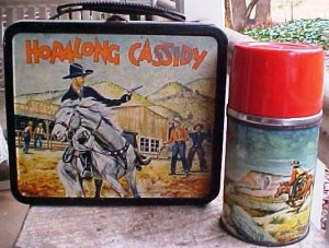 1954 Hopalong Cassidy lunch box and thermos