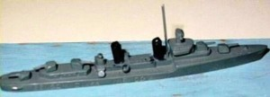 A model of a destroyer.