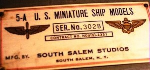 "The tag on the case reads: ""mfg by South Salem Studios, South Salem, N.Y."""
