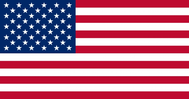 One of three possible 51-star designs for a new American flag. On this one, the rows of stars are staggered.