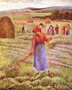 """Post-Impressionism: """"Haying at Eragny,"""" by Camille Pissarro"""