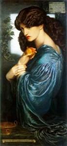 """Pre-Raphaelite Brotherhood: """"Proserpine,"""" by Dante Gabriel Rossetti"""
