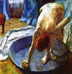 """Impressionism: """"Woman in the Bath,"""" by Edgar Degas"""