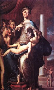 """Mannerism: """"Madonna with the Long Neck,"""" by Girolamo Francesco Maria Mazzola"""