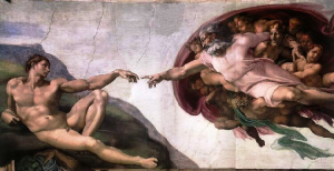 "Renaissance: ""The Creation of Adam,"" by Michelangelo"