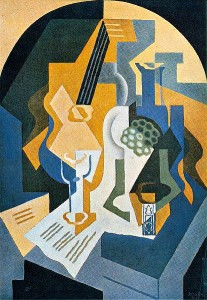 """Cubism: """"Still Life with Fruit Dish and Mandolin,"""" by Juan Gris"""