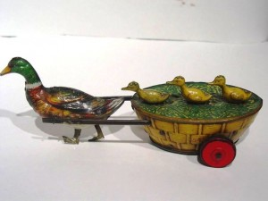 "A Lehmann wind up ""Paak-Paak"", circa 1903. This toy was made until 1930."