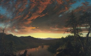 """Romanticism: """"Twilight in the Wilderness,"""" by Frederic Edwin Church"""