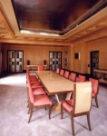 The dining room, designed by Marchese Peter Malacrida.