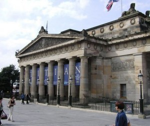 Neo-Classicism: The Royal Scottish Academy Building on the Mound, Edinburgh, Scotland