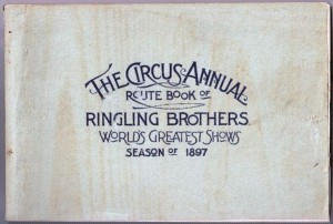 Ringling Bros. 1897 Route Book