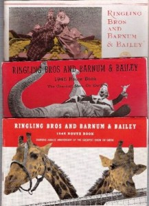 Ringling Bros. and Barnum & Bailey Route Books