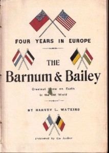 Title Page of Barnum & Bailey Route Book