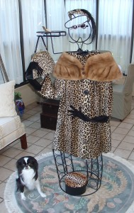 A leopard pattern coat and outfit