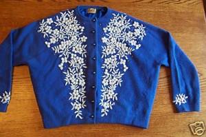 Royal blue beaded cardigan