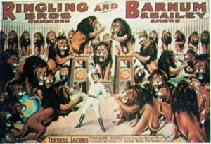 1938 – Ringling Bros. and Barnum & Bailey; Terrell Jacobs & Lions