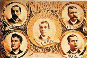 1888 – Ringling Bros. – Portraits of the five brothers