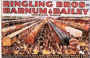 Ringling Bros. and Barnum & Bailey; Trains more than one a third mile long