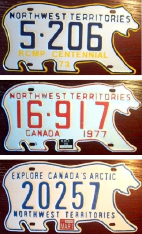 "Occasionally, an anniversary or a slogan, such as ""Explore Canada's Arctic"" would be added to the plate."
