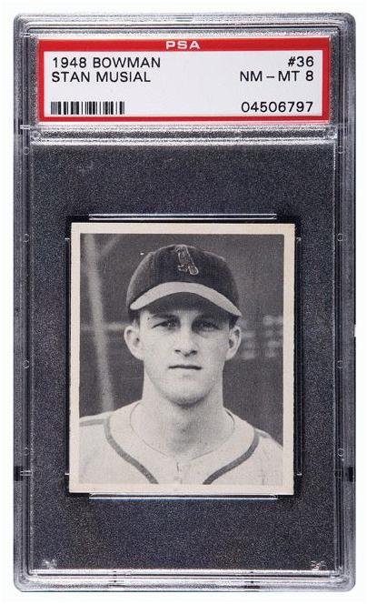 Bowman 1948 Stan Musial Card