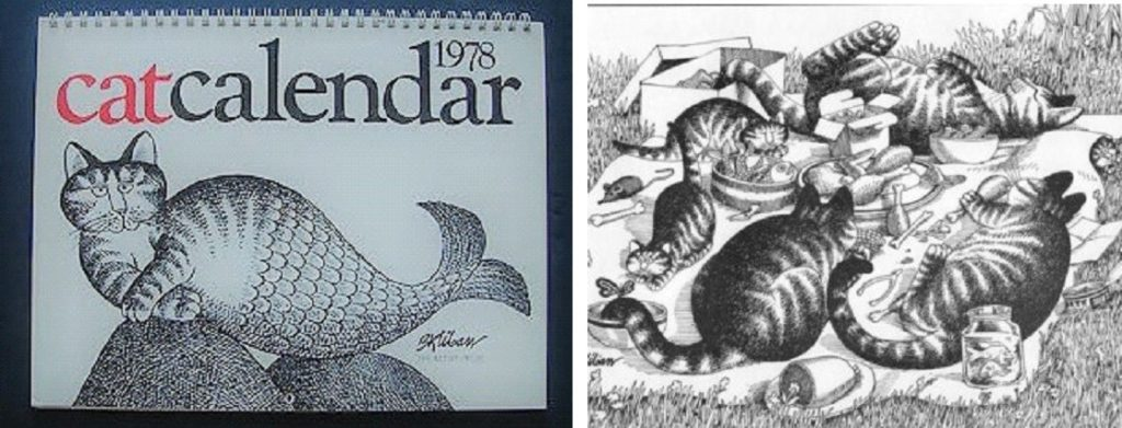 Oh, those Kliban cats, their first calendar, 1978