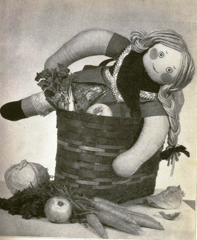 A doll from a cooking story.