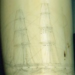 Image #1 - Faded antique scrimshawed whale tooth