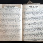 January 3, 1943 Diary Entry  (click to enlarge)