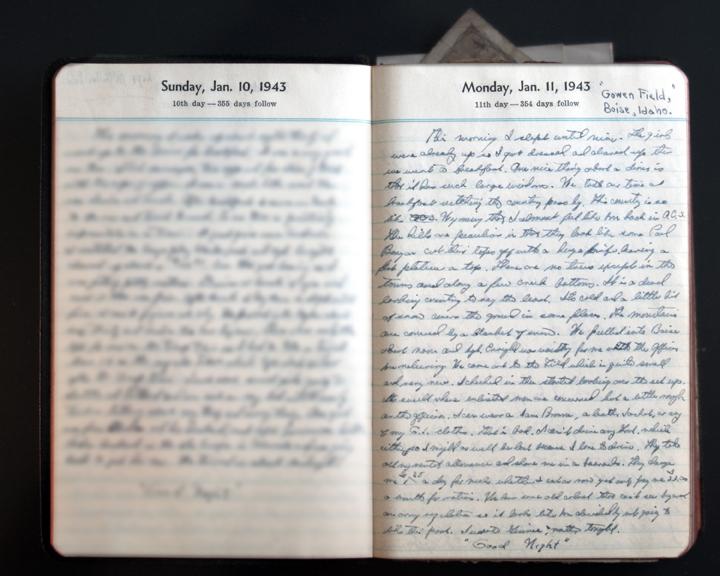 January 11, 1943 Diary Page
