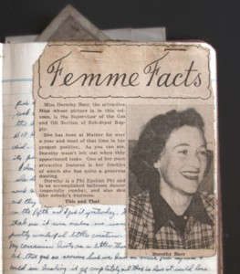 Newspaper Clipping inserted in Diary on January 15, 1943