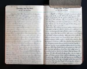 January 15, 1943 Diary Page