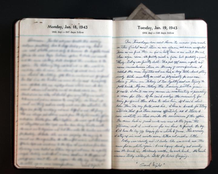 January 19, 1943 Diary Page